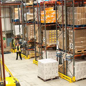 Warehouse containing 27,000 product lines