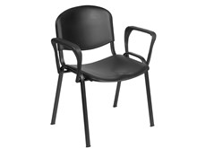 Venus Visitor Chair in Black with Arms