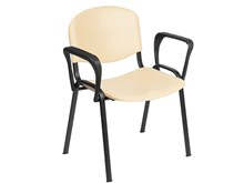 Venus Visitor Chair in Beige with Arms