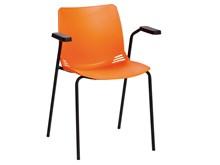 Neptune Visitor Seat, Inc Arms-Orange